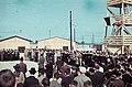 A Besszarábiából menekített német nemzetiségűek átmeneti tábora a Német küldöttség látogatásakor. Fortepan 84034.jpg