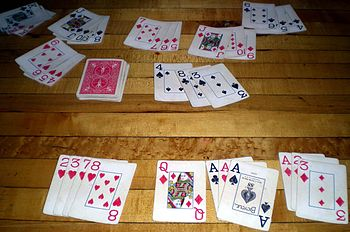 English: A game of Rummy 500