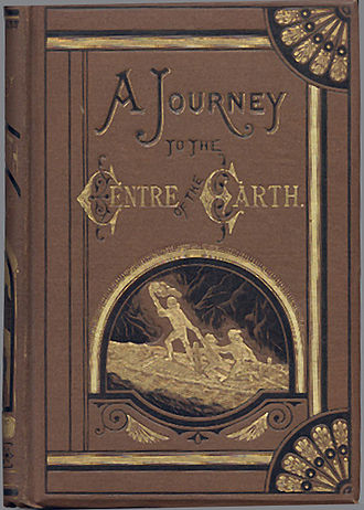 Journey to the Center of the Earth - Book cover made in 1874