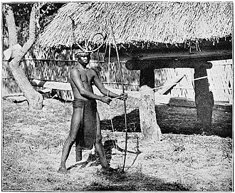 Negrito - A Negrito man with a hunting bow (c. 1900) from Negros Island, Philippines