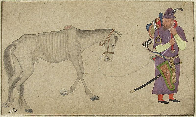 File:A Turkman Warrior Leading an Emaciated Horse.jpg