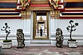 A police officer at the Wat Pho Royal Monastery in Bangkok, Thailand, November 18, 2012.jpg