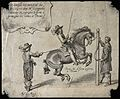 A rider with a feathered hat is performing a dressage act wi Wellcome V0021764.jpg