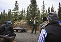 A scene from Ranger Anna Moore's campground program about the history of the park at the Teklanika Campground on Monday (b87fddfe-4dfe-40f0-bdfd-5b3260074c24).JPG