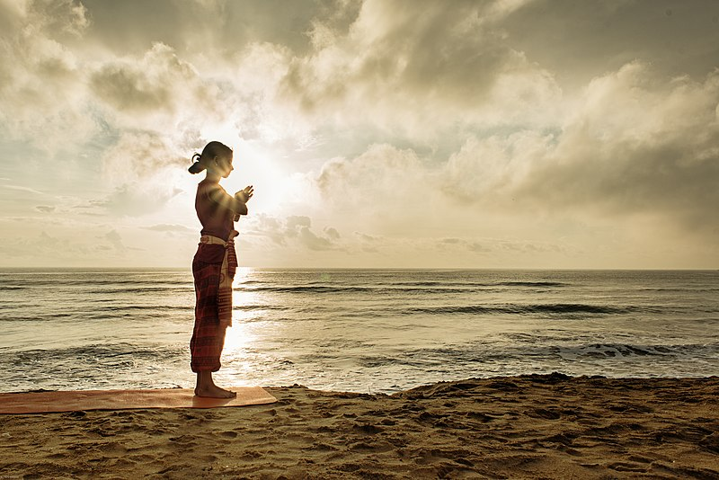 File:A yoga namaste Hindu culture religion rites rituals sights.jpg