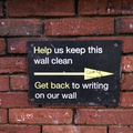 "Abbey Road sign - ""Help us keep this wall clean. Get back to writing on our wall."".png"