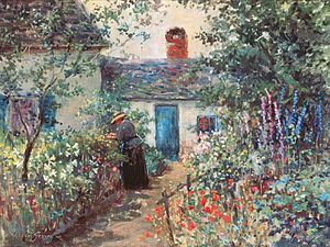 Abbott Fuller Graves - Image: Abbott Fuller Graves Flower garden, Kennebunkport, Maine