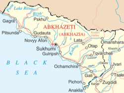 Location of Abkhazia