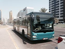 A bus in Abu Dhabi