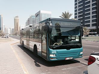 Transport in the United Arab Emirates - A bus in Abu Dhabi