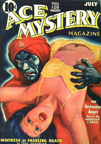 "Paul Chadwick (author) - Chadwick's ""Mistress of Snarling Death"" was cover-featured on the July 1936 issue of Ace Mystery"