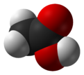 Spacefill model of acetic acid