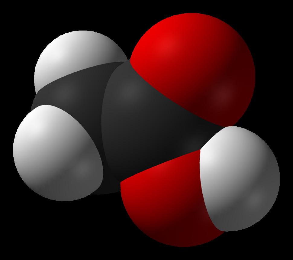 Spacefill model of acetic acid