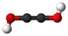 Ball-and-stick model of acetylenediol