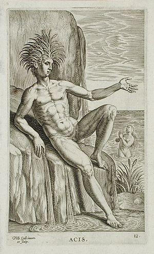Acis and Galatea (mythology) - Image: Acis LACMA M.88.91.382m
