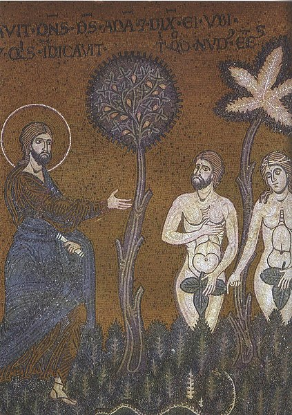 File:Adam and Eve before God after their sin.jpg