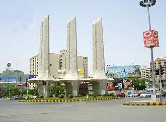 Clifton, Karachi - Teen Talwar, the sign of Faith, Unity and Discipline