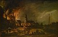 Aert van der Neer - Fire in a town at night.JPG