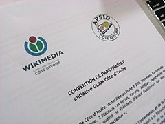 Agreement between Wikimedia Côte d'Ivoire and APSID-CI 05.jpg