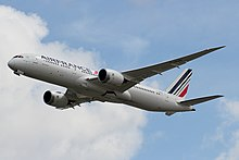 Air France B787-9 (F-HRBB) flying near London Heathrow Airport.jpg