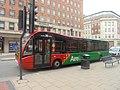Aireline bus on the Headrow, Leeds (1st May 2018).jpg
