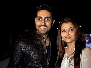 Abhishek Bachchan - Bachchan with wife Aishwarya Rai in 2014.