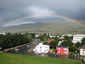image of Akureyri rainbow
