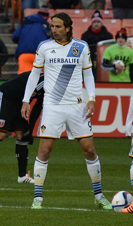 Alan Gordon in het shirt van LA Galaxy