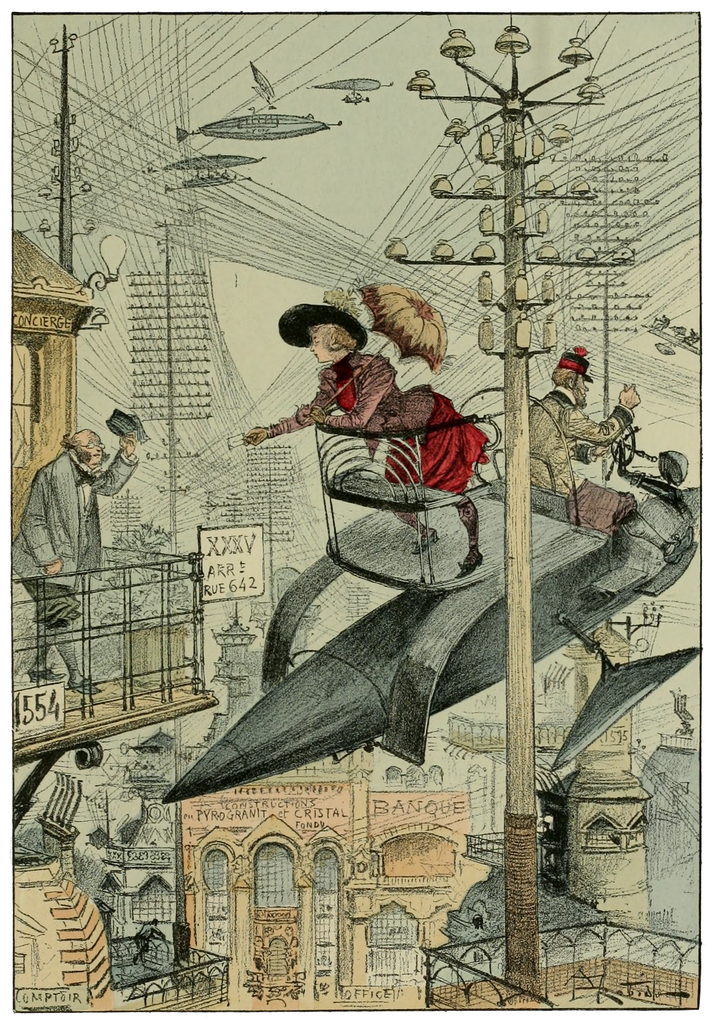 Albert ROBIDA - La vie électrique (1893) 713px-Albert_Rodida_-_La_Vie_Electrique_-_illustration_p171