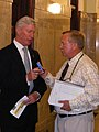Alberta Budget 2009 Minister Ted Morton & Neil Waugh.jpg