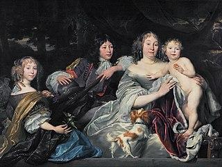 Albertine Agnes van Nassau with her children