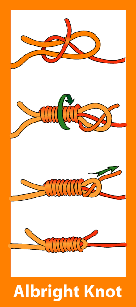 pow 2 tying the knots The bowline lay the bight to make a hole when tying knots in monofilament line, moisten the line before pulling the knot tight this helps to stop.