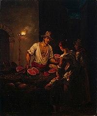 Italialainen vesimelonikauppias