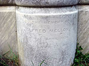 Alfred Mellon - Funerary monument (detail)