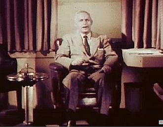 Alfred E. Perlman - Alfred E. Perlman, screen capture from the movie posted on the Internet Archive, from the