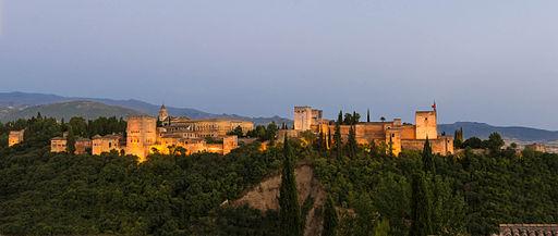 Alhambra at dusk Granada Spain