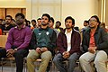 Ali Haidar Khan, Tanweer Morshed, Moheen Reeyad & Ashiq Shawon at Wikipedia 15 celebration in BSK (02).jpg