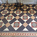All Saints Church Farley, Wiltshire, England - chancel floor tiles.jpg