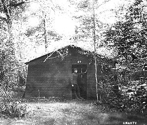 Amanty Airdrome - Building 47 in the woods at Amanty Airdrome
