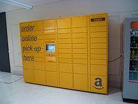 Amazon locker at Eastgate Shopping Centre, Gloucester.JPG