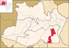 Localização de Novo Aripuanã
