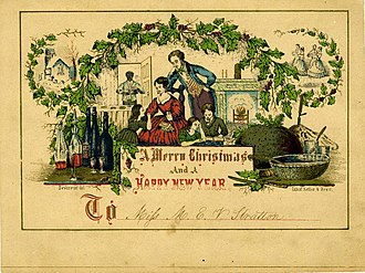 Christmas card - A 19th-century American Christmas card