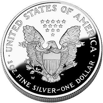 Actual silver weight - American Silver Eagle coin, ASW = 1.00