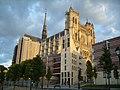 Amiens - Cathédrale, facade, soleil couchant.JPG
