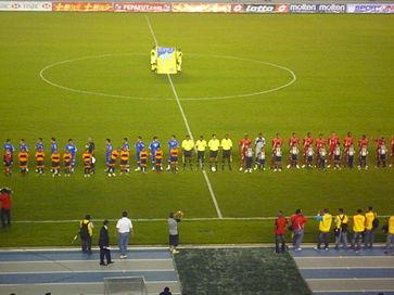 02763b0762 Partido amistoso entre la Selección de El Salvador (izquierda) y la de  Panamá