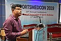 Amit Bandyopadhyay Delivering Lecture - Fitness Profile of Young Muslim Males of Kolkata During the Month of Ramadan Intermittent Fasting - SPORTSMEDCON 2019 - SSKM Hospital - Kolkata 2019-0 3508.JPG