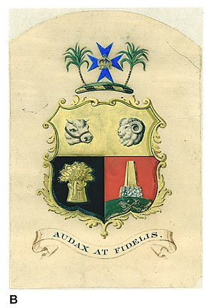 Coat of arms of Queensland - Coat of Arms of Queensland, 1893
