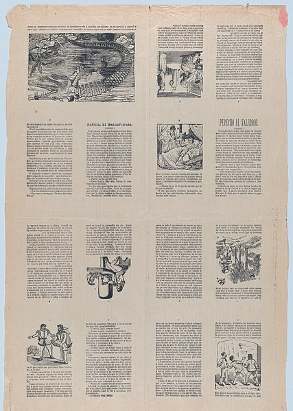 File:An uncut sheet printed on both sides with pages from 'Perucho el Valeroso' and 'Perlina la encantadora' MET DP873193.jpg