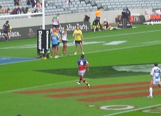 Braith Anasta - Braith Anasta attempts a conversion in the 2016 NRL Nines