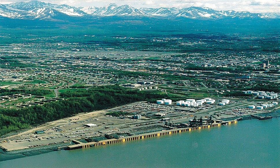 Anchorage Alaska aerial view